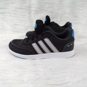 Adidas Boys Switch Black/Blue Sneakers Size 12